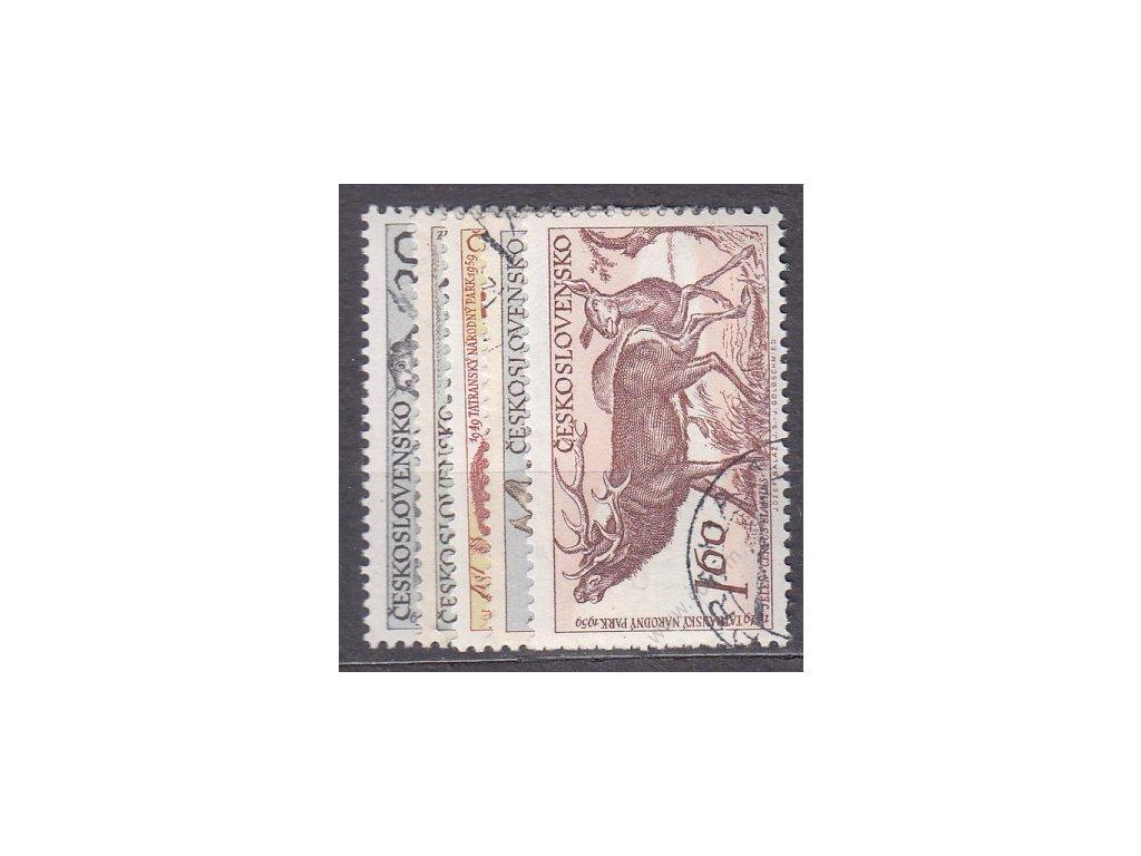 1959, 30h-1.60Kčs Zvířata TRNAP, série, Nr.1070-74, razítkované, ilustrační foto