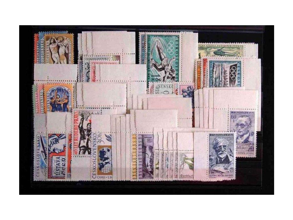 1960, kompletní ročník výplatních známek, ** , ilustrační foto