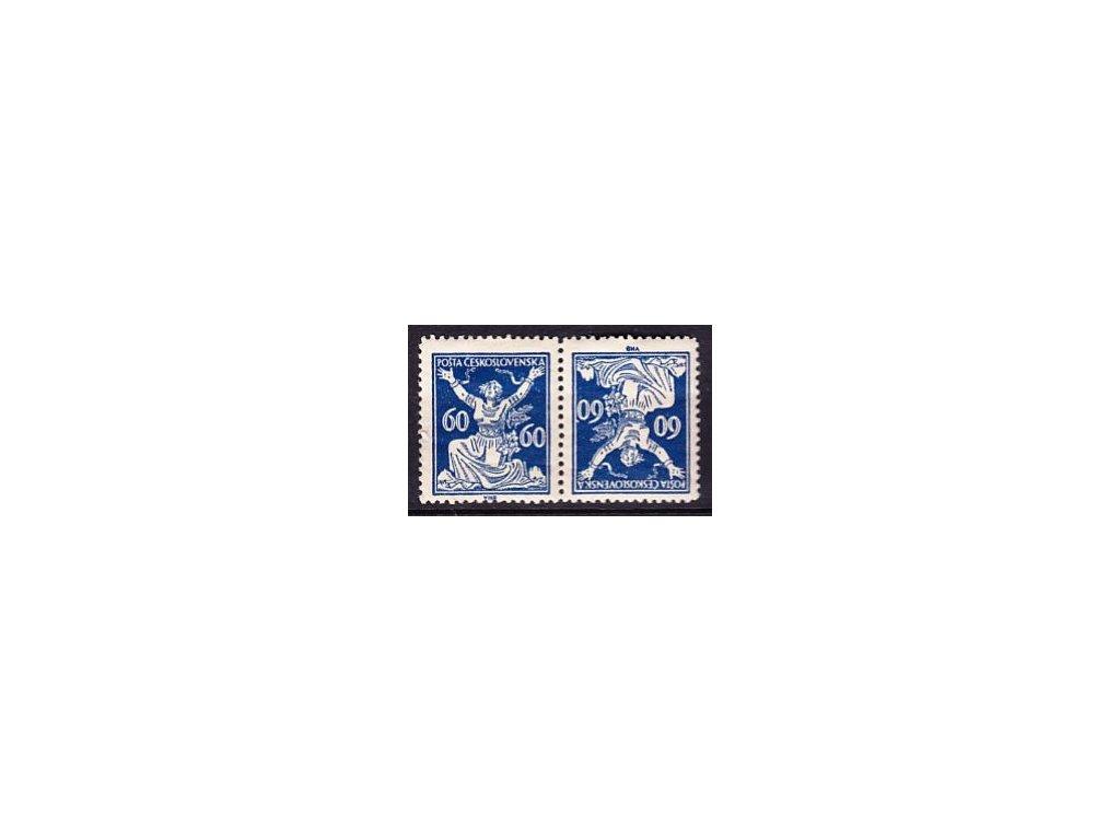 60h modrá, úzká protichůdná dvojice, Nr.157TBa, * po nálepce