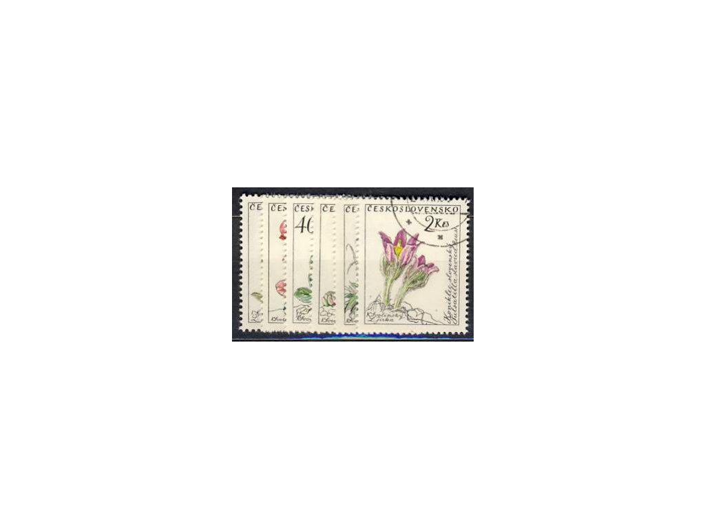 1960, 20h-2Kčs, série Květiny, Nr.1148-53, razítko
