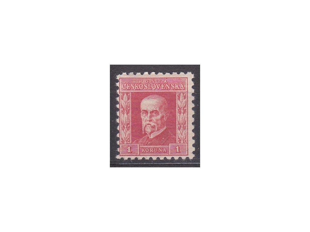 1Kč červená, IV typ, pr.5, pruhy v lepu, Nr.199y, * po nálepce