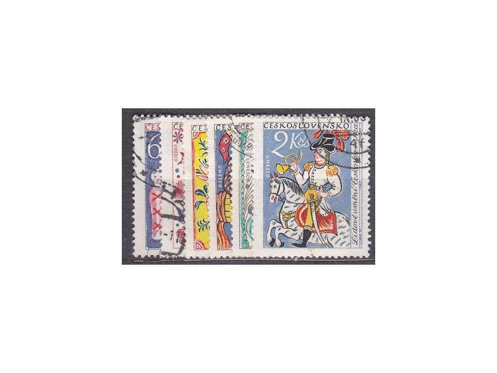 60h-2Kčs Lidové umění, série, Nr.1331-36, razítkované, ilustrační foto