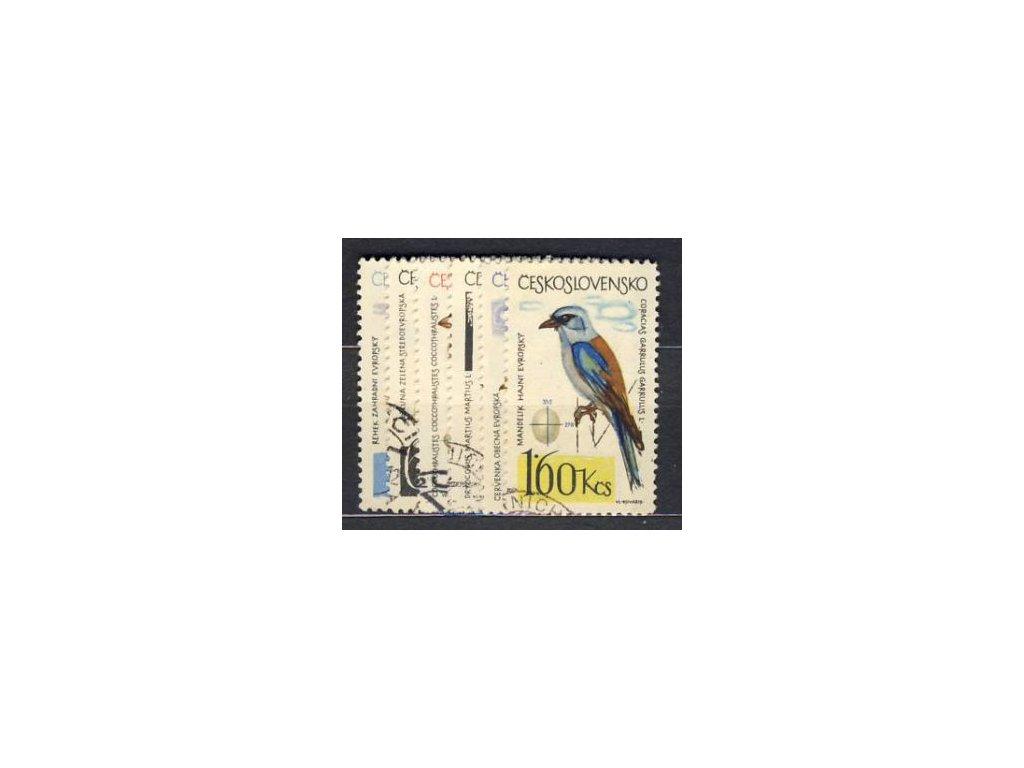 1964, 30h-1.60Kčs série Ptactvo, razítkované