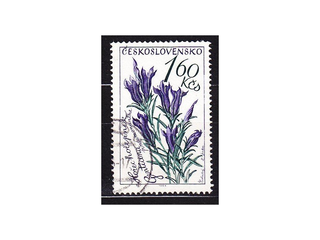 1964, 1.60Kčs Květiny, DV - přerušený lístek, Nr.1381, razítkované