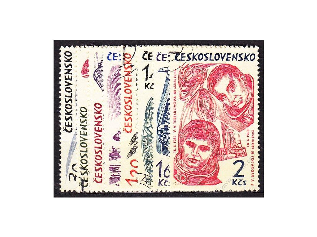 1964, 30h-2Kčs Výzkum vesmíru, série, Nr.1369-76, razítkované, ilustrační foto