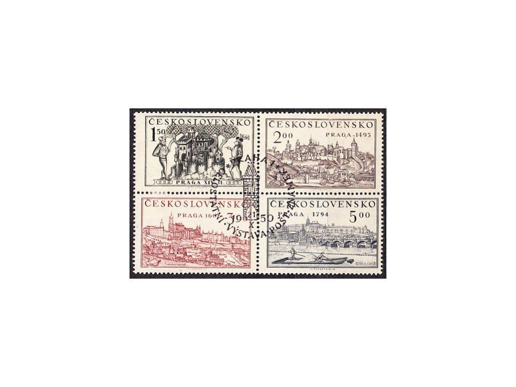 1950, 1.50-5Kčs PRAHA 1950, soutisk, pamětní razítko