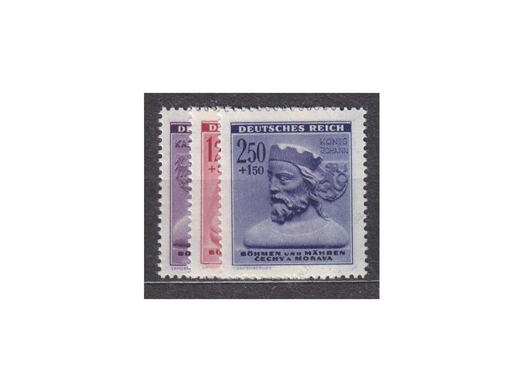 1943, 60h-2.50K Zimní pomoc, série, Nr.103-5, **