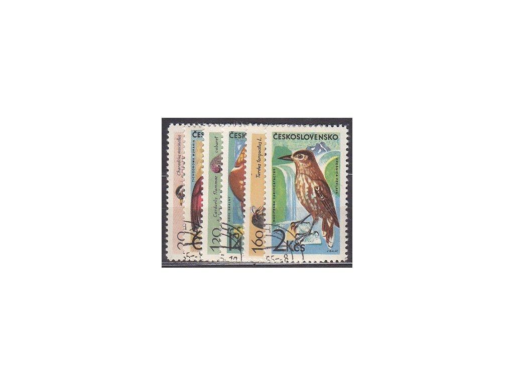 1965, 30h-2Kčs Horské ptactvo, série, Nr.1474-79, razítkované, ilustrační foto