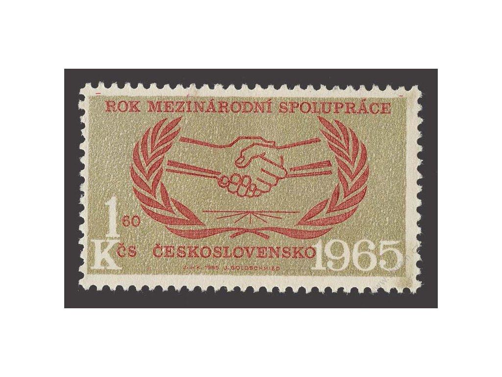 1965, 1Kčs OSN, VV - zlatá barva v rohu, Nr.1455, **