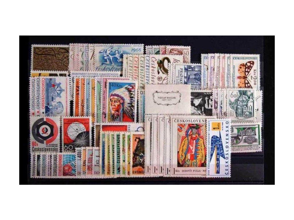 1966, kompletní ročník výplatních známek, ** , ilustrační foto