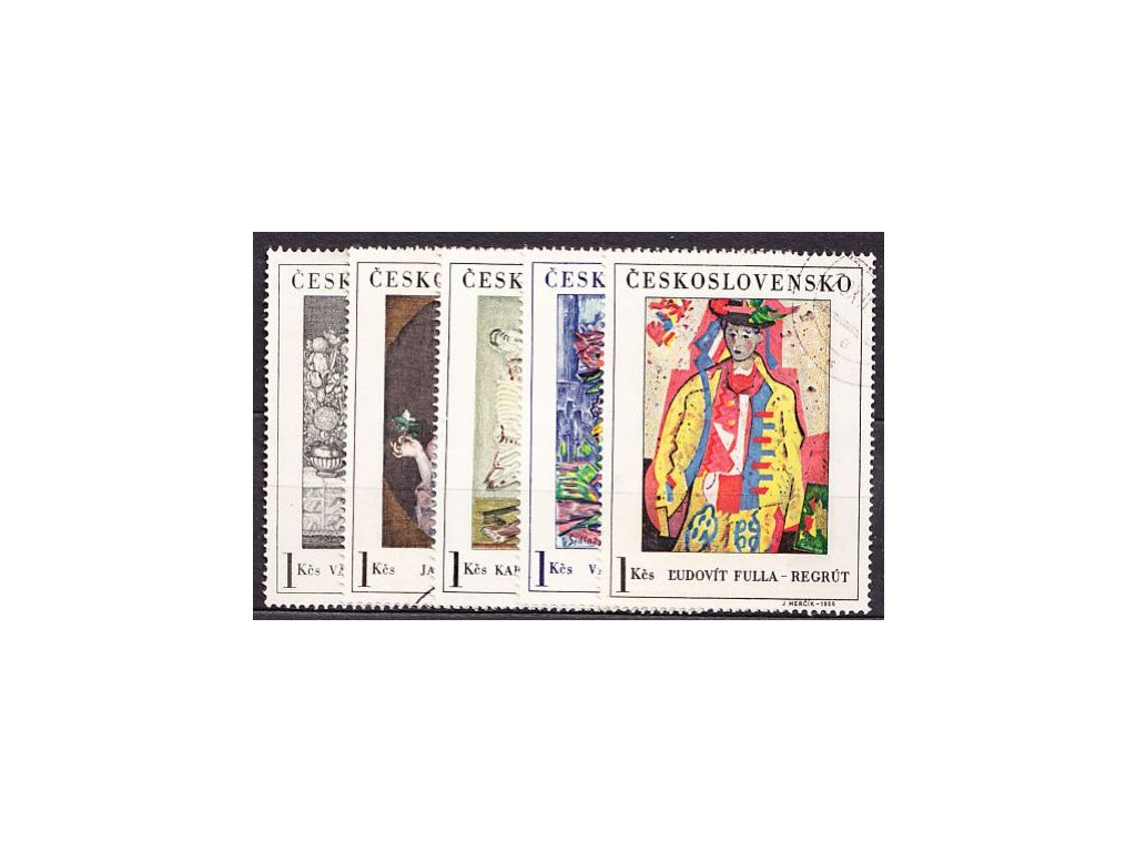 1966, 1Kčs Umění, 5 hodnot, Nr.1574-8, razítkované