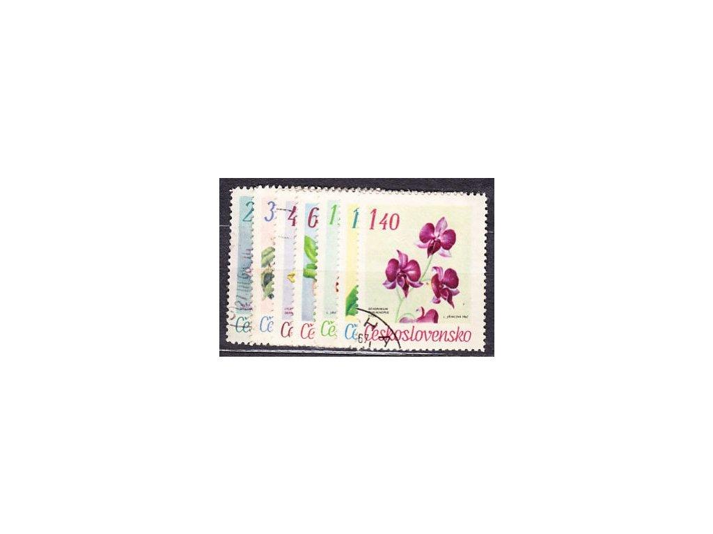 1967, 20h-1.40Kčs Květiny, série, Nr1630-36, razítkované, ilustrační foto