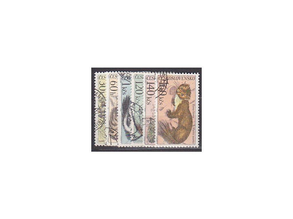 1967, 30h-1.60Kčs Zvířena, Nr.1637-42, razítkované, ilustrační foto