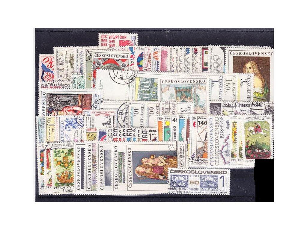 1968, kompletní ročník výplatních známek, razítkované, ilustrační foto