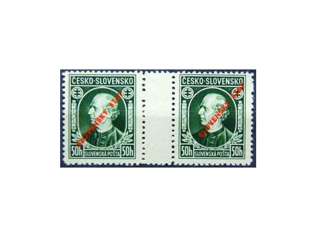 1939, 50h Hlinka, meziarší, Slov.spec.Nr.S23A, **