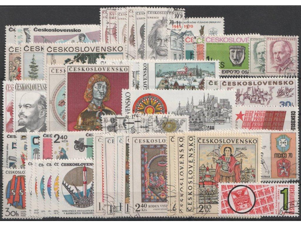 1970, kompletní ročník výplatních známek, razítkované, ilustrační foto