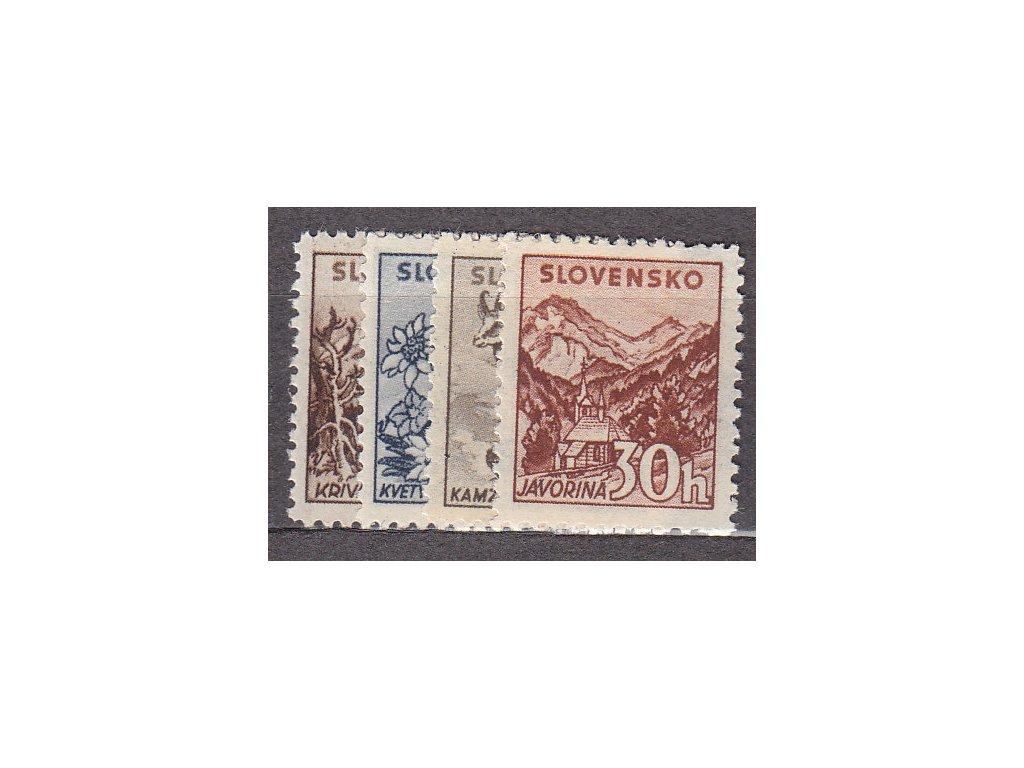 1943, 10-30h Tatranské, bez průsvitky, Nr.48-51X, **, ilustrační foto