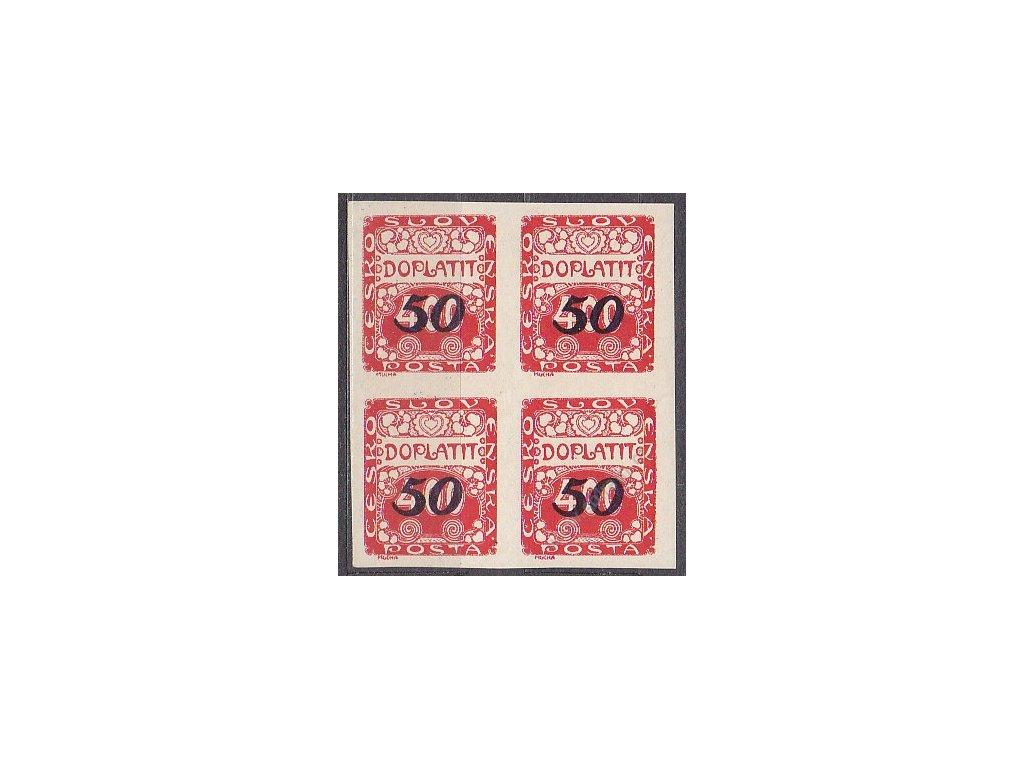 50/400h červená, 4blok, Nr.DL36, **