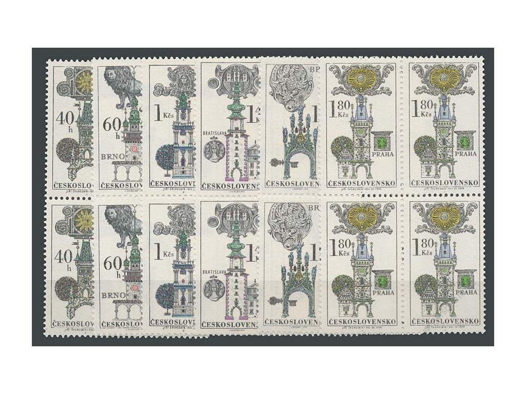1970, 40h-1.80Kčs Domovní znamení, 4bloky, **