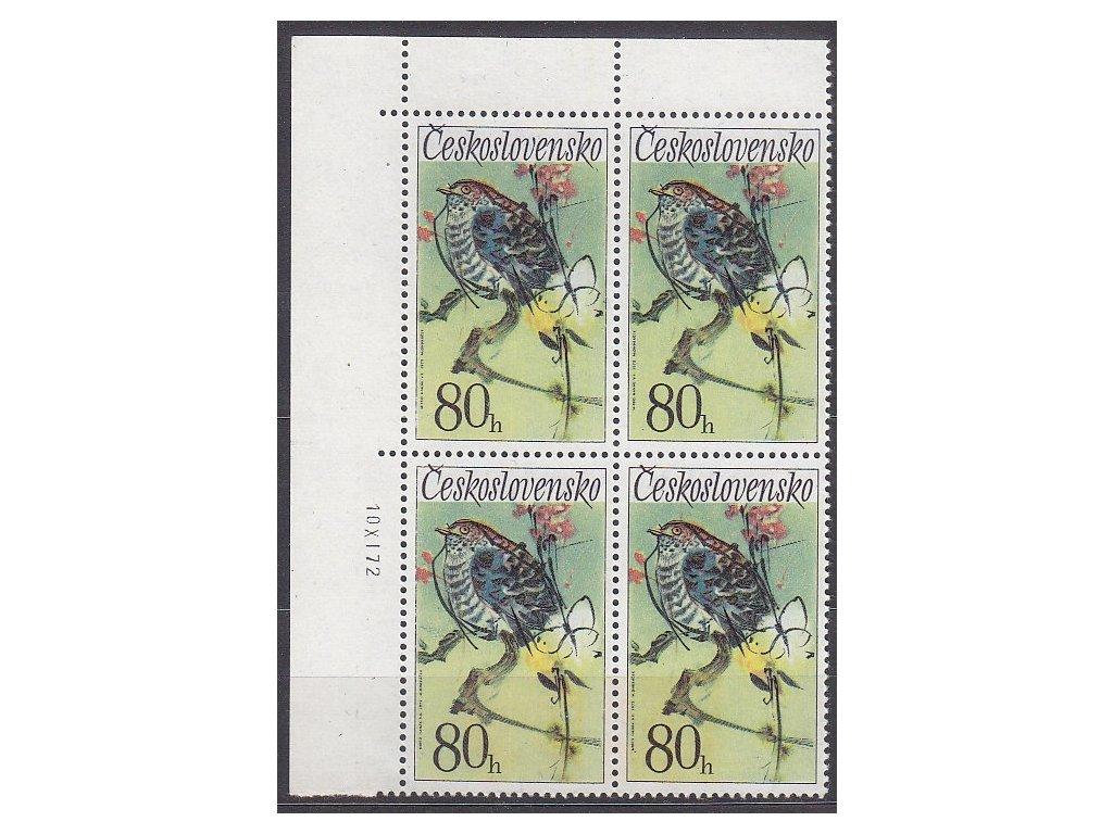 1972, 80h Ptactvo, DV - modrá skvrna nad větví, **