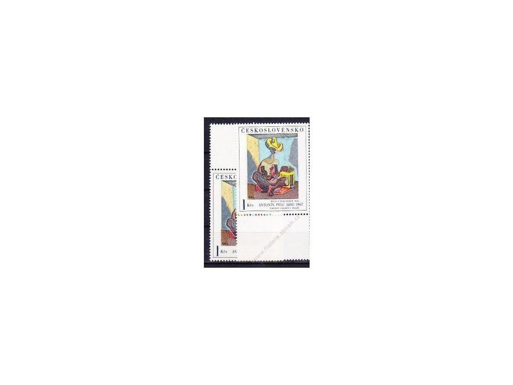 1973, 1Kčs Hoch z Martinique, I.typ, horní a dolní kupon, Nr.2054, **