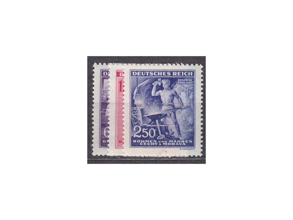 1943, 60h-2.50K Wagner, série, Nr.108-110, **