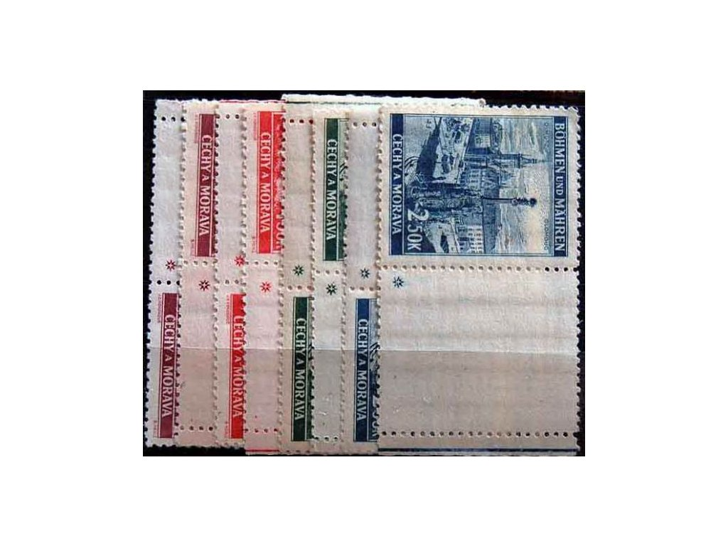 1939, 1.50-2.50K Krajinky, kupony L+P, křížky, **