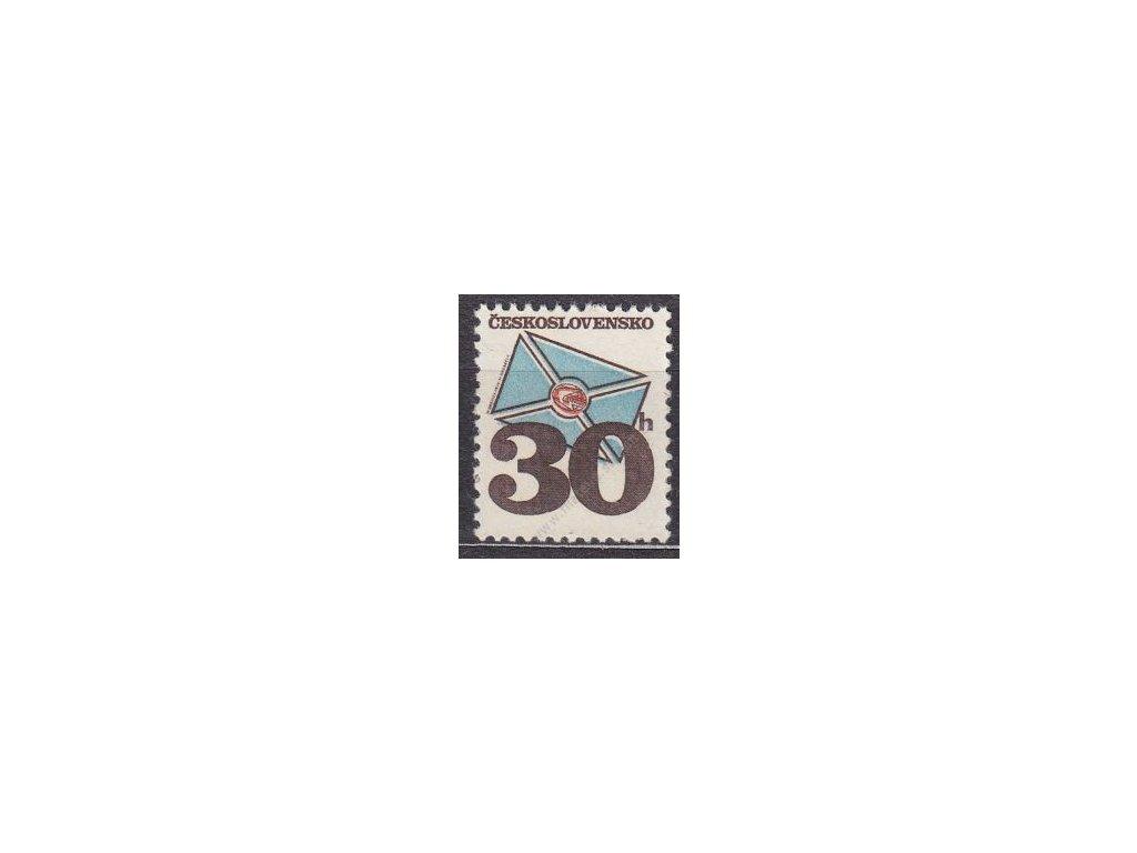 1974, 30h Psaníčko, tropický lep, (Pof.300,-), **