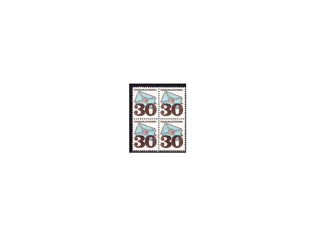 1974, 30h Psaníčko, tropický lep, 4blok, Pof.1200Kč
