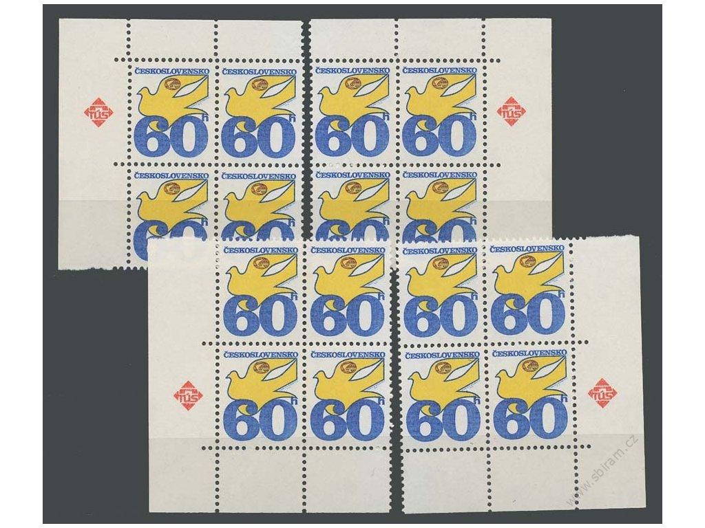 1974, 60h Holubice, papír fl1, roh. miniatura, Nr.2113ya, **