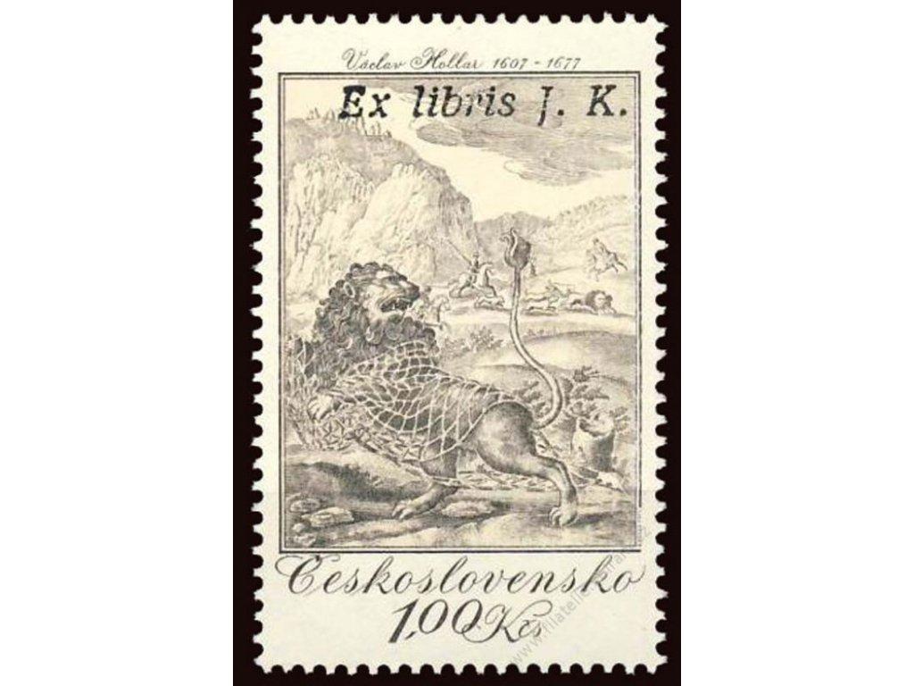 1975, 1Kčs Rytina s přetiskem Ex libris Josef Kemr