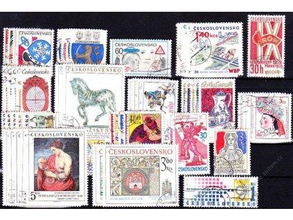 1977, kompletní ročník výplatních známek, razítkované, ilustrační foto