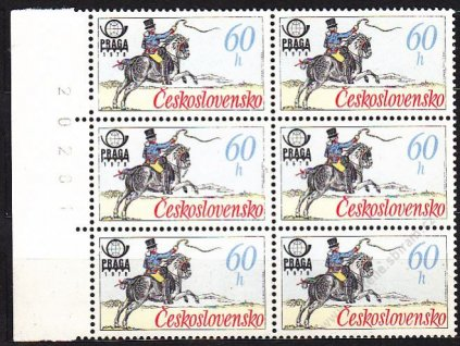 1977, 60h Postilión, kraj. 6blok s DV na ZP 31,32