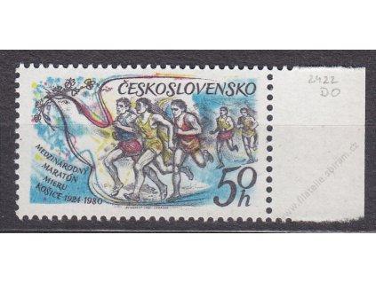 1980, 50h Maraton, DV - vynech. barva za hlavou