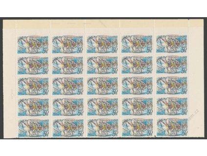 1980, 50h Maratonec, kompletní arch, výrazná DV, **