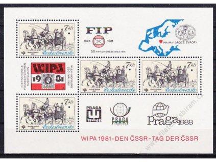 1981, aršík 7Kčs WIPA, VZOR, Nr.A2489, **