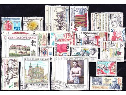 1981, kompletní ročník výplatních známek, razítkované, ilustrační foto