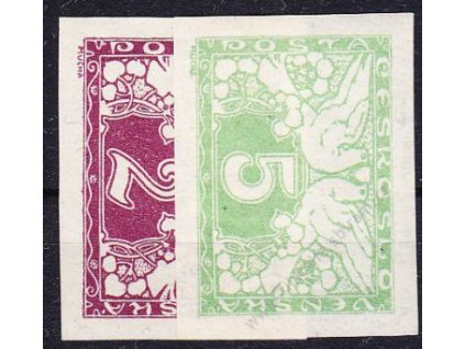 2 a 5h Spěšné, obě bílý papír, Nr.S1,2,  * po nálepce