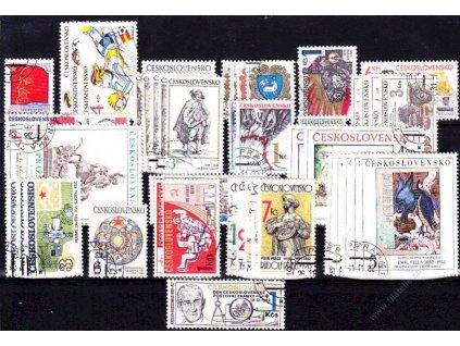 1982, kompletní ročník výplatních známek, razítkované, ilustrační foto