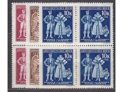1944, 1.20-10K 5. výr. BuM, série, 4bloky, **