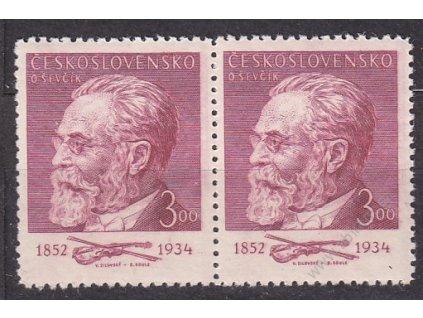 1952, 3Kčs Ševčík, 2páska s částečným archovým obtiskem, Nr.641, **