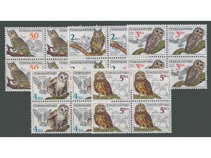 1986, 50h-5Kčs Ptactvo, 4bloky, Nr.2758-62, **