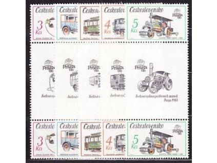 1987,3-5Kčs,Technické památky,spojky,Nr.2794-8, **