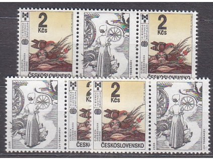1987, 2Kčs BIB, L+P kupon + spojka, Nr.2806, **