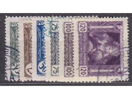 15-120h série s přítiskem na 1/4 zn., Nr.27-32q, *po nálepce