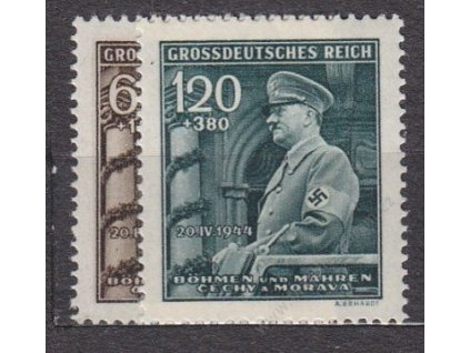 1944, 60h-1.20K Hitler, série, Nr.116-17, **