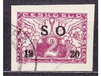 2h Spěšné, černý přetisk, Nr.SO26a, razítkované