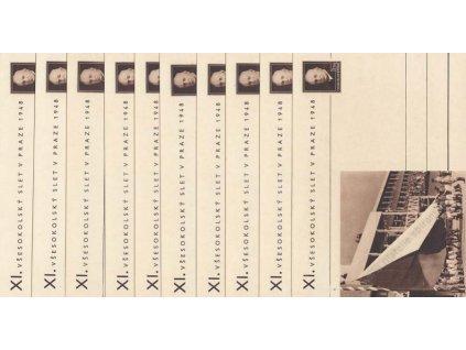 CDV 90 (1-16) XI. všesokolský slet, kompletní sada