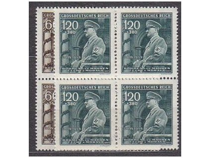 1944, 60h-1.20K Hitler, série, 4bloky, Nr.116-17, **