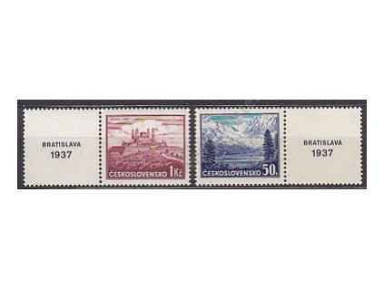 50h-1Kč Bratislava, L+P kupon, Nr.329-30, **